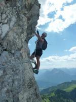 Klettersteig an der Köllenspitze