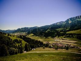 Ausblick ins Tannheimer Tal